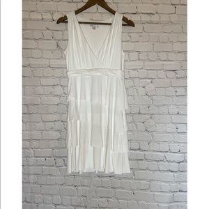 New York & Company Tiered White Dress